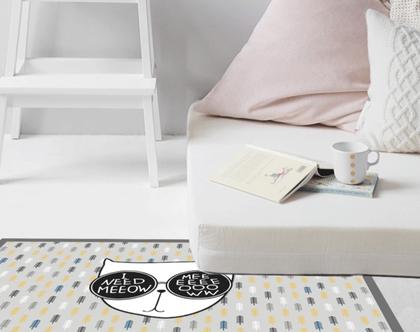 שטיח pvc לחדר ילדים | מתנה לאוהבי חתולים | שטיח פי.וי.סי | שטיח pvc מעוצב | שטיח לינולאום | שטיח pvc לחדר