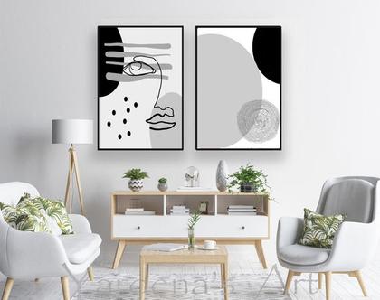 סט תמונות אבסטרקט | תמונות בעיצוב מקורי| תמונות שחור לבן בעיצוב מינימליסטי | | תמונות מיוחדות לסלון | תמונות אבסטרקטיות