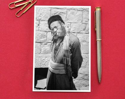 גלויה צילום שחור לבן: צפת, 1937
