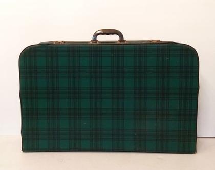 מזוודה ירוקה וינטאג'