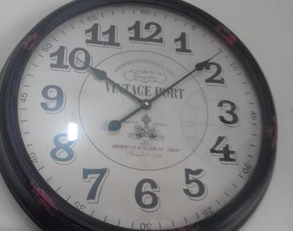 שעון קיר גדול בסגנון וינטג