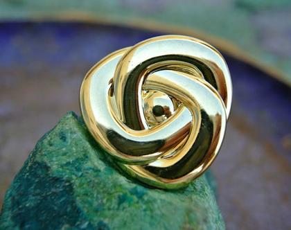 """6 כפתורים וינטג' בצורת פרח, כפתורים בצבע זהב, גודל 32 מ""""מ"""