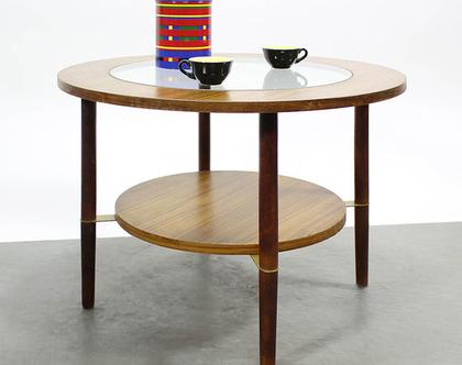 שולחן סלון עגול דניש וינטאג׳, שולחן קפה עגול