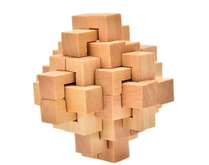 משחק הרכבה ומחשבה מעץ | משחק מעץ | פריט לנוי | מתנה לגבר | מתנה לחבר | מתנות לגברים |
