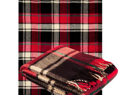 שמיכת טלוויזיה מצמר מרינו כיסוי מיטה שמיכת טלוויזיה להגנה מהקור כירבולית לחורף עיצוב סלון שמיכת צמר שמיכה חורפית מתנה לאמא