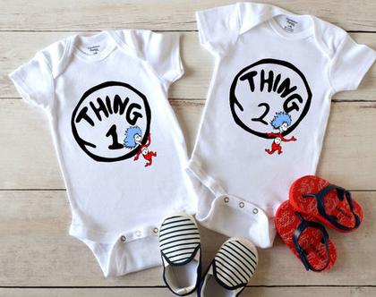 בגדי גוף לתינוקות תאומים בהתאמה אישית
