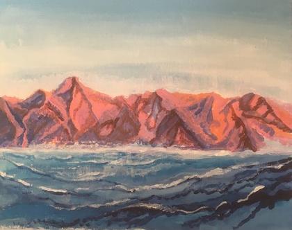 ציור הרי אדום וים סוף