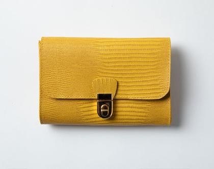 ארנק עור צהוב, ארנקי עור, ארנק מעור, ארנקים מעור, ארנקי עור, ארנקים לנשים, ארנקי מעצבים, מתנה לחברה