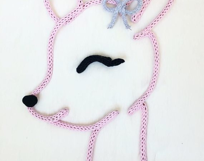 אובייקטים מעוצבים לחדרי ילדים   אקססוריז לחדרי ילדים   במבי לתליה על קיר/מדף