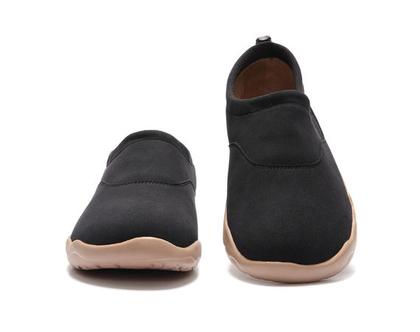 נעלי בד אופנתיים אומנותיים ומודפסים דגם שחור לנשים שאוהבות אופנה ואומנות גם במידות גדולות