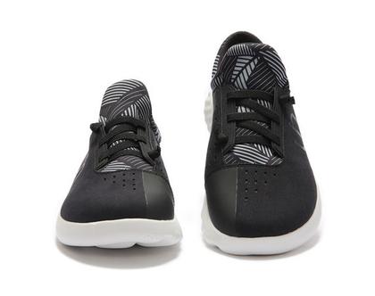 נעלי בד אופנתיים אומנותיים ומודפסים דגם שחור סניקרס לגברים