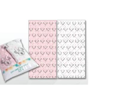 זוג סדיני כותנה למיטת תינוק - ורוד -DISNEY
