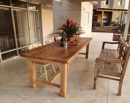 שולחן מעץ ממוחזר דגם לירז