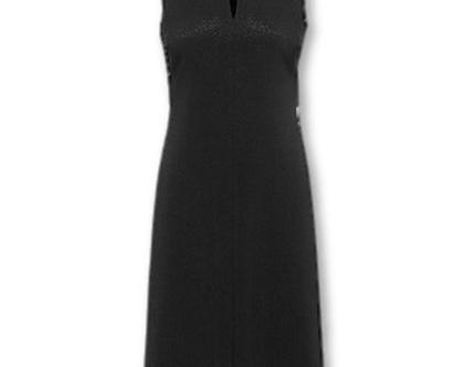 שמלה חגיגית שחורה ללא שרוולים (הלרי)