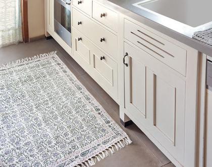 שטיח 90X150 | שטיח לחדר | שטיח קטן | שטיח כותנה | שטיח לחדר הרחצה | פרחוני | שטיח פרחוני| שטיח מונוכרומטי