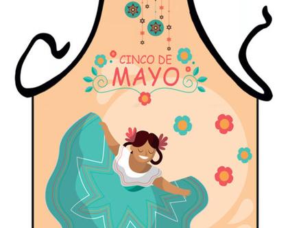 סינר מתנה | סינר חגיגי | סינר מודפס - מקסיקו