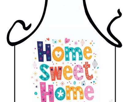 סינר מתנה | סינר חגיגי | סינר מודפס - HOME SWEET HOME