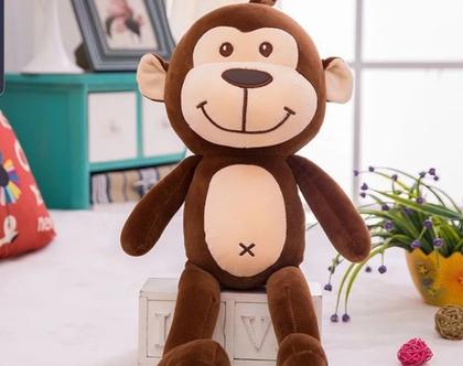 """בובת קוף ענקית 80 ס""""מ , בובת קוף , בובת פרווה , קופיף , בובה קופיף , בובה מתנה , מתנה לילדים , מתנה לילדה , מתנה ליום הולדת, מתנה לילדים"""