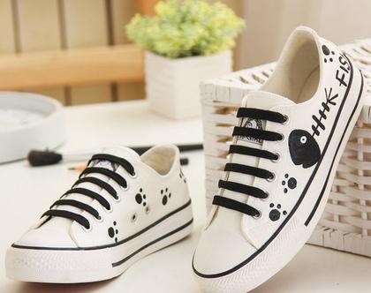 סניקרס לנשים חתול שחור , נעלי בנות, סניקרס לנערות, נעליים לאימהות, דגם חתול (מידה 35 מתאים למידות 33-34 ישראליות)