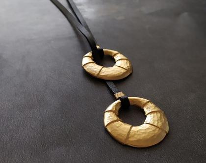 שרשרת עניבה זהב פסים