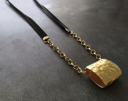 שרשרת עור צינור זהב