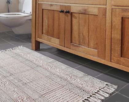 שטיחון 90X150 | שטיח לחדר | שטיח קטן | שטיח כותנה | שטיח לחדר הרחצה | אוריינטלי | שטיח פרחוני| שטיח אוריינטלי
