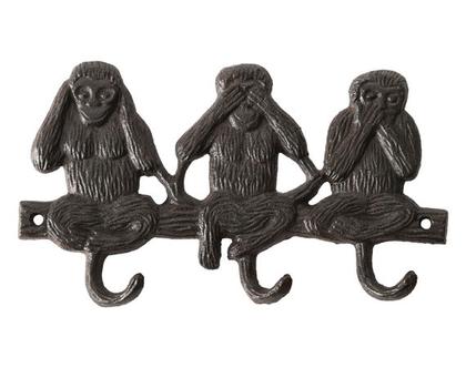 LH272 | מתלה ווים בדוגמת קופים | מתלה ווים| מתלה ברזל | מתלים | פרזול | דקורציה | עיצוב לבית | עיצוב למרפסת | מתלה מעילים