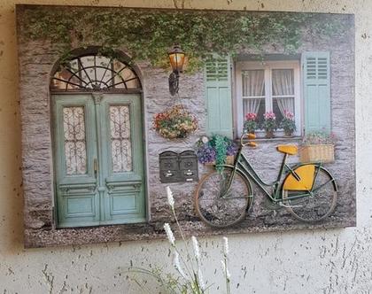 תמונת תבליט עם אופני ברזל