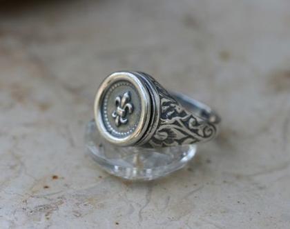 טבעת כסף, טבעת חותם, טבעת לאישה ולגבר, טבעת כסף יוניסקס