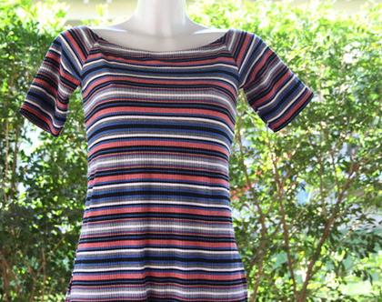 שמלת פסים / שמלה להריון / שמלה לנשים