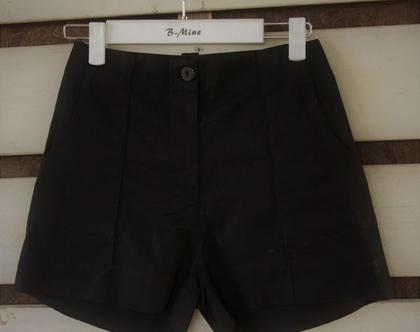 מכנס קצר שחור אלגנטי