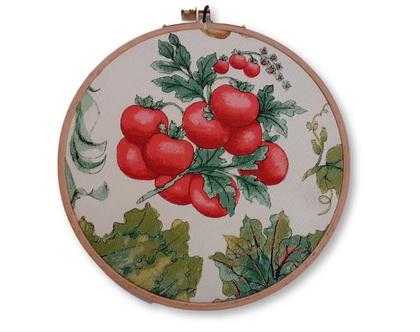 חישוק רקמה בינוני קישוט לקיר- עגבניות שרי