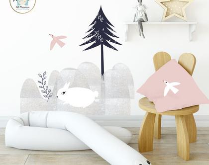 מדבקת קיר - ארנבת | מדבקות קיר | מדבקות ויניל | עיצוב חדרי ילדים