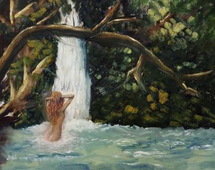 """""""חוה באגם"""" - ציור למכירה!"""