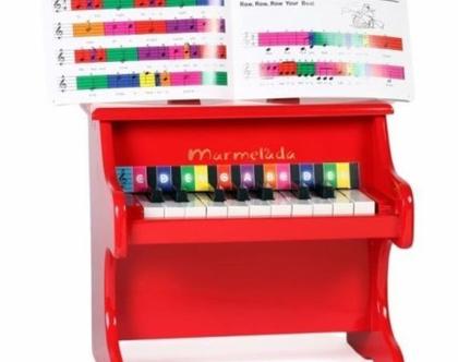 פסנתר אדום