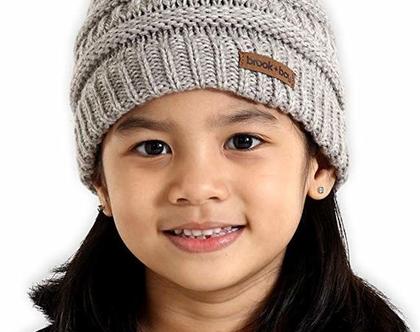 כובעים מהממים מצמר לילדים לגילאים 3-7 שנים בשלל צבעים לבחירה