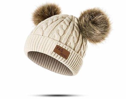 כובעים לילדים בנים /בנות גילאים 1-3 שנים צמר איכות מעולה
