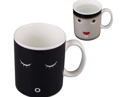 ספל לקפה מחליף צבעים   מתנה שימושית   כוס לשתייה חמה   מתנה לחבר   מתנה מקורית   מתנה מצחיקה  