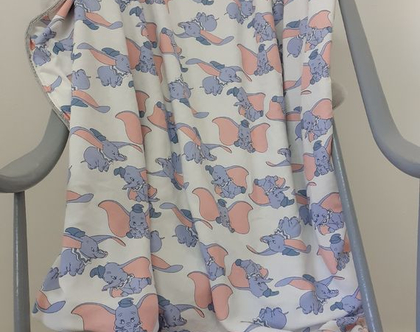 שמיכת חורף לתינוק \ שמיכה למיטת מעבר\ שמיכת עגלה - דגם דמבו