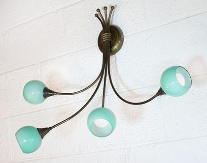 מנורת קיר וינטאג׳ טורקיז, מנורת קיר מנחושת, מנורת קיר טורקיז, מנורת טורקיז