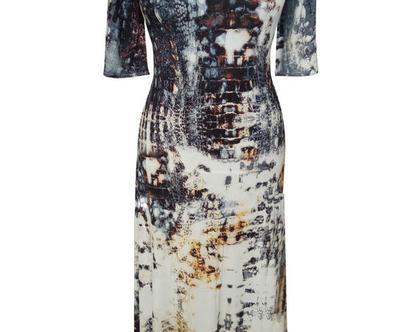שמלת מקסי מתרחבת נחש