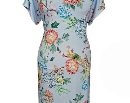 שמלת מניפה פרחונית