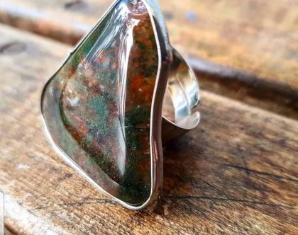 טבעת כסף / טבעת אבן חן / טבעת ג׳יפסי
