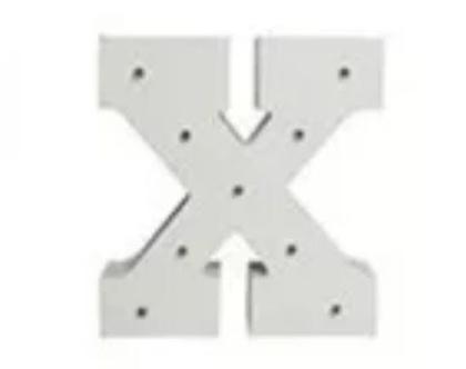 מנורת אותיות באנגלית/ אות X באנגלית מאירה/ מנורת לילה מעוצבות/ מנורת לילה לחדר ילדים/ מנורת שולחן/ מנורה לילה נתלת על הקיר