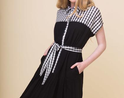 שמלה פיקניק | שחורה