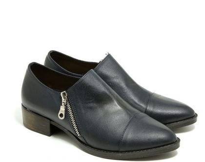 נעליים עם רוכסנים בצבע כחול כהה – B.unique