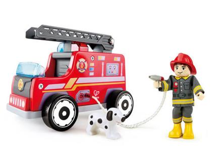 כבאית משחק מעץ - צוות החילוץ HAPE | כבאית לילדים| מכונית משחק לילדים