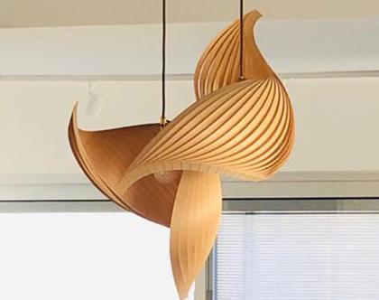 מנורת תלייה, מנורת כנף, מנורת תקרה, מנורת תלייה מפורניר, מנורת תקרה טבעית. אהיל פורניר.