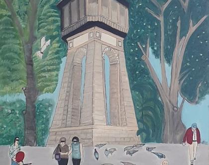 מגדל המים משנת 1910 ליד הבאר הראשונה בראשון לציון