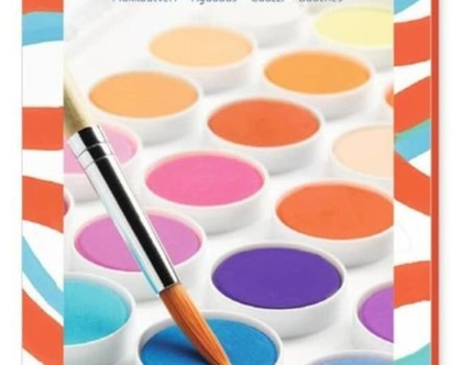 36 צבעי מים ומכחול ליצירה מושלמת בצבעים הקלאסים ..